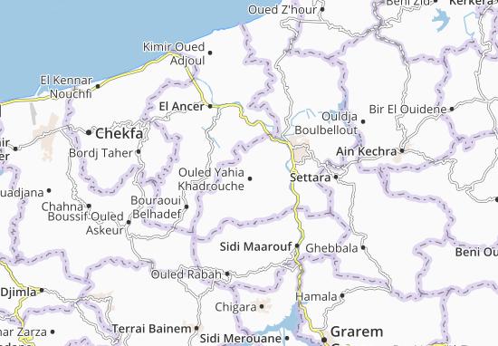 Carte-Plan Ouled Yahia Khadrouche