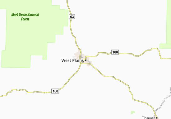 West Plains Map