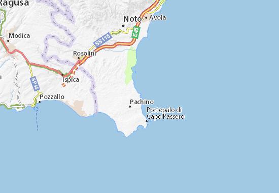 Cartina Autostradale Sicilia.Mappa Michelin Marzamemi Pinatina Di Marzamemi Viamichelin