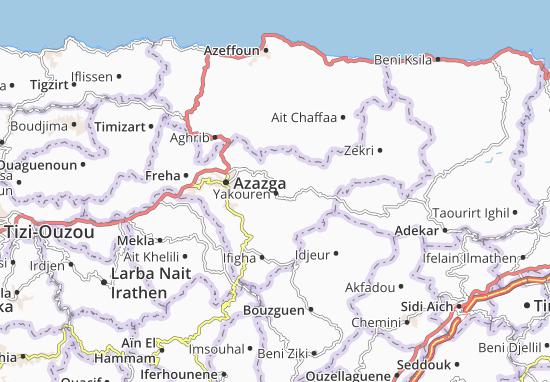 Carte Kabylie Detaillee.Carte Detaillee Yakouren Plan Yakouren Viamichelin