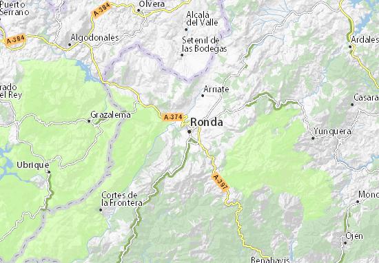 Carte Littoral Andalousie.Carte Detaillee Ronda Plan Ronda Viamichelin