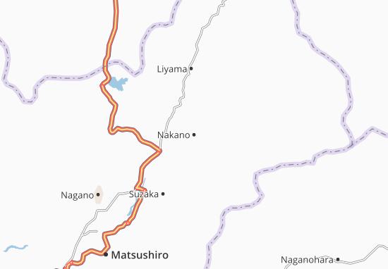 Kaart Plattegrond Nakano
