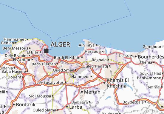 Carte Zeralda Algerie.Carte Detaillee Bordj El Kiffan Plan Bordj El Kiffan