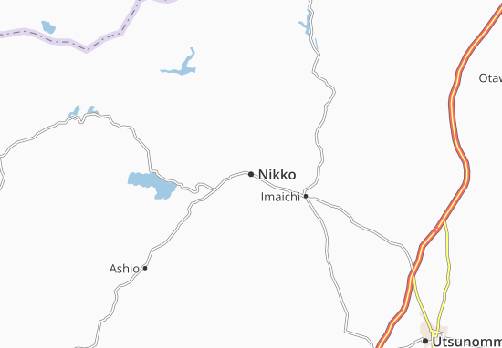 Mapa Plano Nikko
