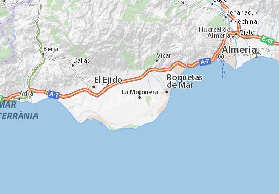 Carte-Plan La Mojonera