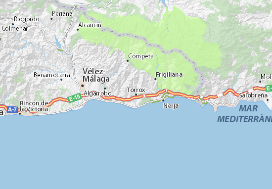 Torrox Map: Detailed maps for the city of Torrox - ViaMichelin on costa del sol map, venice italy area map, cities in spain malaga map,