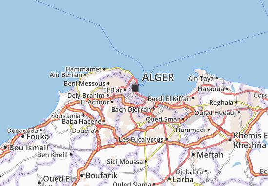 Carte Alger Dwg.Map Of Sidi M Hamed Michelin Sidi M Hamed Map Viamichelin