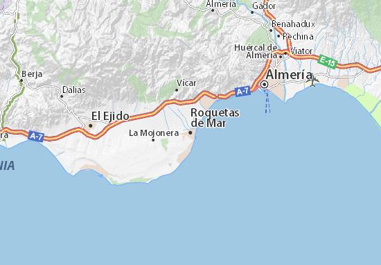 Carte-Plan Roquetas de Mar