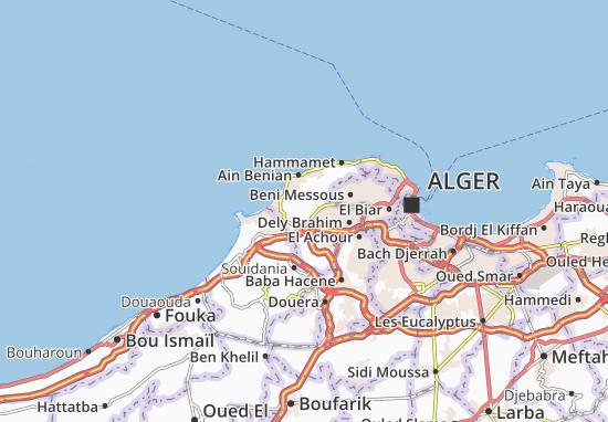 Carte Algerie Boufarik.Carte Detaillee Cheraga Plan Cheraga Viamichelin