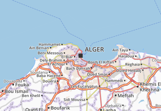 Karte Stadtplan Alger