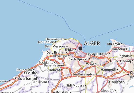 Karte Stadtplan Beni Messous