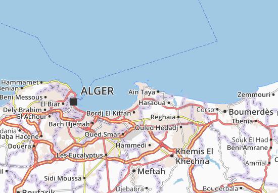 Carte-Plan Bordj El Bahri