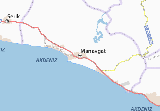 Manavgat Map