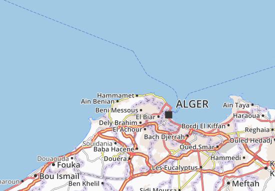 Carte Zeralda Algerie.Carte Detaillee Hammamet Plan Hammamet Viamichelin