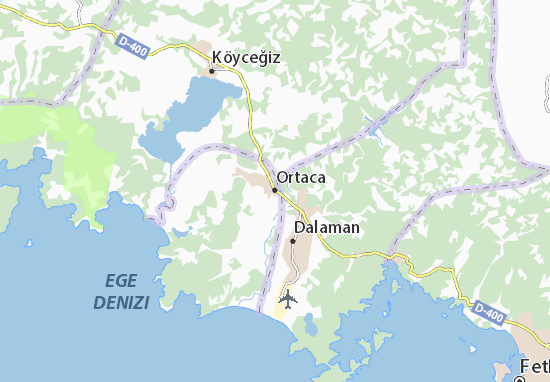 Ortaca Map