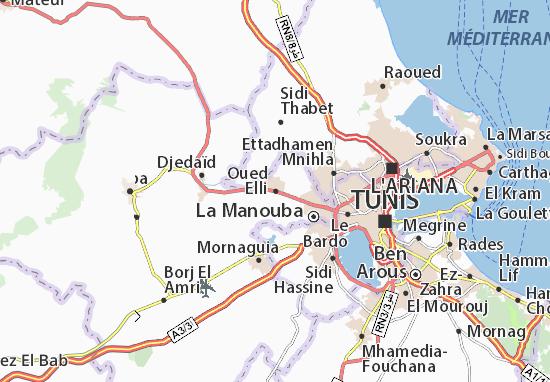 Carte-Plan Oued Elli