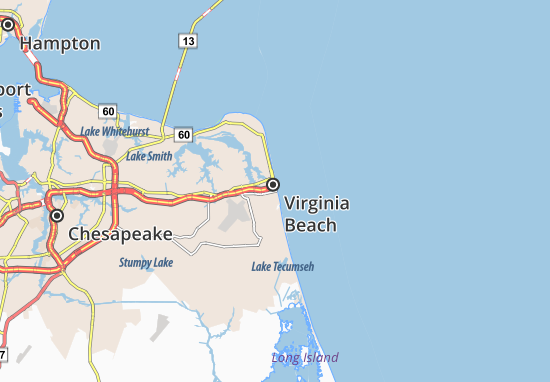 Virginia Beach Map Detailed Maps For The City Of Virginia Beach