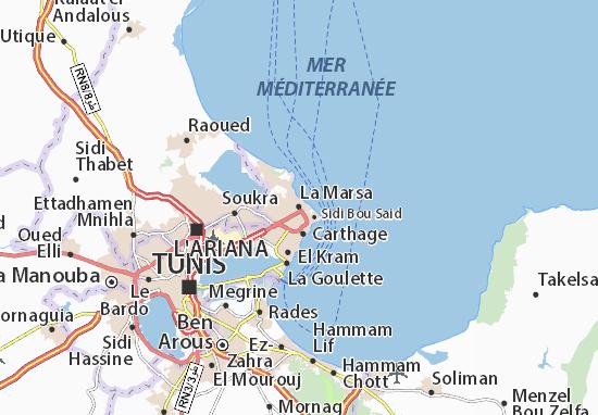 Mappa La Marsa - Cartina La Marsa ViaMichelin