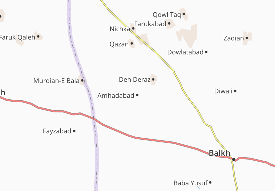 Amhadabad Map