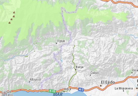 Mapa De La Alpujarra.Mapa Las Alpujarras Plano Las Alpujarras Viamichelin