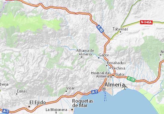 Carte-Plan Alhama de Almería