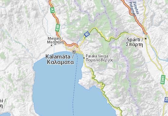 Paralia Verga Map