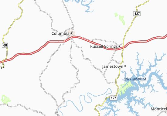 Glens Fork Map