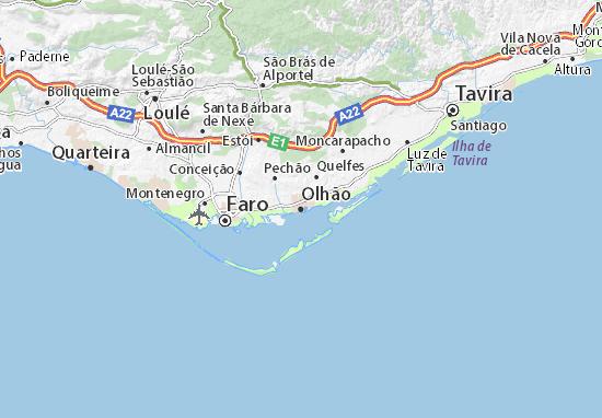 mapa de olhao portugal Olhão Map: Detailed maps for the city of Olhão   ViaMichelin mapa de olhao portugal