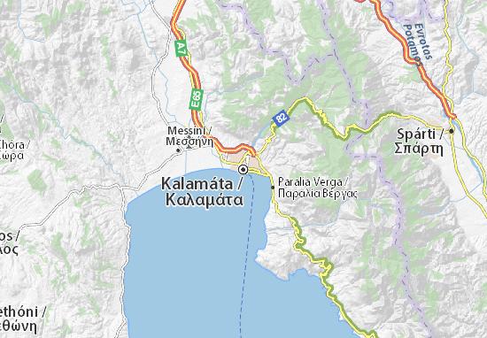 Kaart Plattegrond Kalamáta