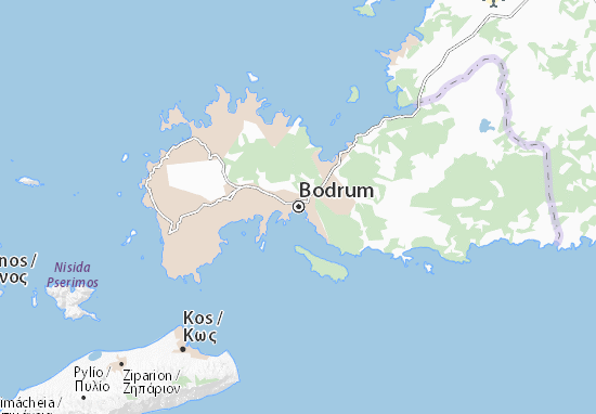 Bodrum Karte.Karte Stadtplan Bodrum Viamichelin