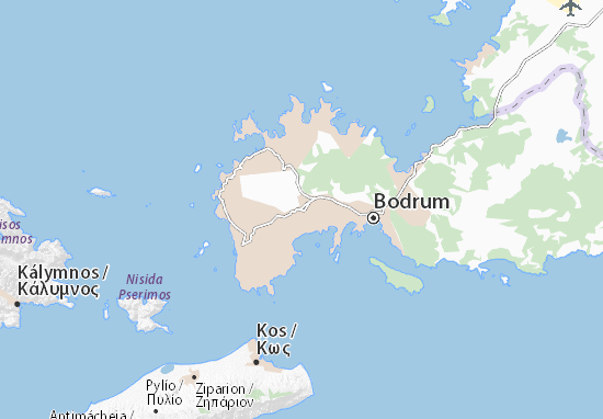 Bodrum Karte.Karte Stadtplan Ortakent Yahşi Viamichelin