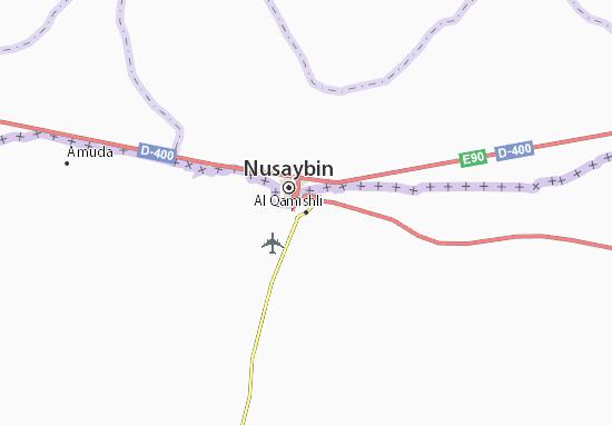 Map Of Al Qamishli Michelin Al Qamishli Map ViaMichelin - Qamishli map