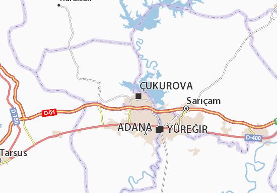 Kaart Plattegrond Çukurova