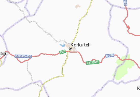 Korkuteli Map