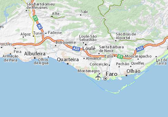 Cartina Geografica Algarve.Mappa Michelin Almancil Pinatina Di Almancil Viamichelin