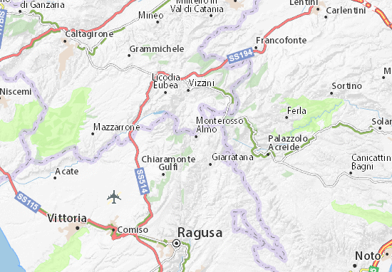 Carte-Plan Monterosso Almo