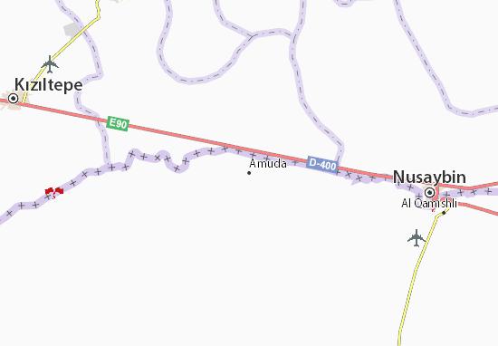 Map Of Amuda Michelin Amuda Map ViaMichelin - Qamishli map