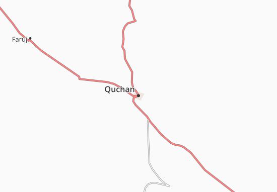Karte Stadtplan Quchan
