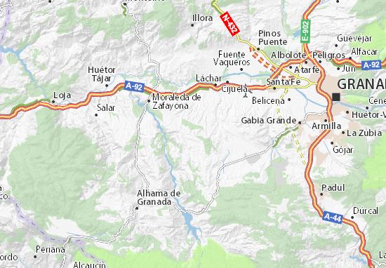 Mapa Alhama De Granada.Mapa Castillo De Tajarja Plano Castillo De Tajarja Viamichelin