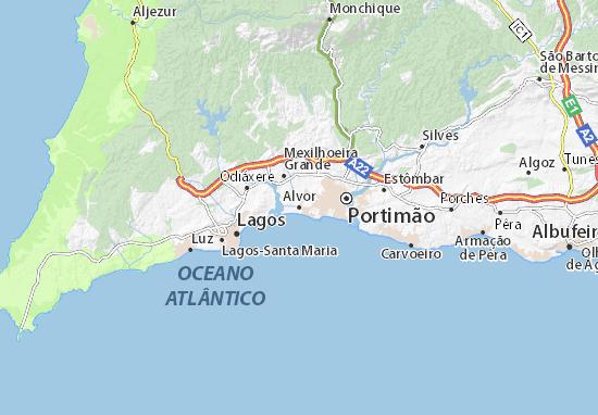 alvor mapa Alvor Map: Detailed maps for the city of Alvor   ViaMichelin alvor mapa