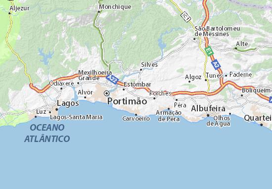 Worksheet. Map of Lagoa  Michelin Lagoa map  ViaMichelin
