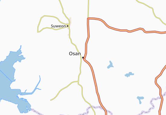 Carte-Plan Osan