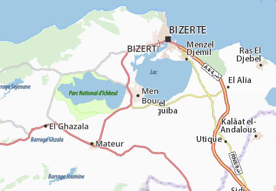 Mapas-Planos Menzel Bourguiba