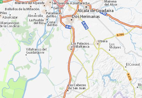 Los Palacios y Villafranca Map