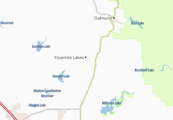 Map Of Yosemite Lakes Park Detailed