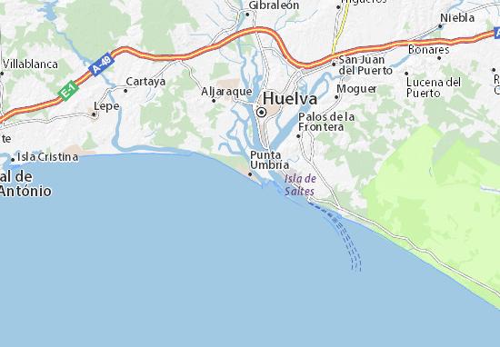 Punta Umbría Map
