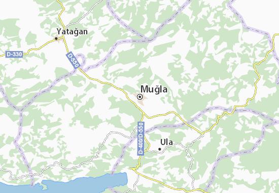 Kaart Plattegrond Muğla