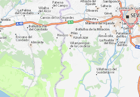 Villamanrique de la Condesa Map
