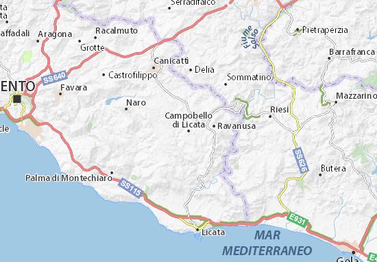 Mappe-Piantine Campobello di Licata