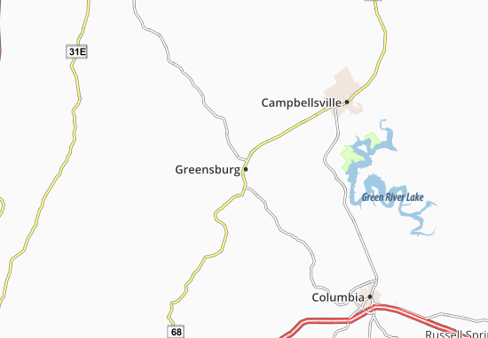 Greensburg Map